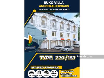 Dijual - Dijual Ruko 3 Lantai Cocok Untuk Usaha & Investasi di Kota Pekanbaru