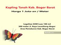 Dijual - Area Pemekaran Kab. Bogor Barat! 1 Juta-an Tanah Kavling Perumahan SHM Bogor