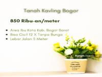 Dijual - Area Ibu Kota Kabupaten Bogor Barat, hanya 850 Ribu-an/meter