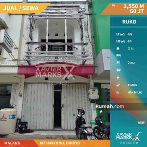 Dijual - DIJUAL / DISEWAKAN MURAH RUKO 2 LANTAI! MT Haryono, Dinoyo Malang