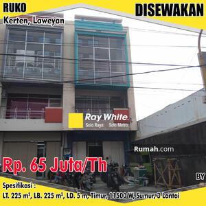 Disewa - Ruko Laweyan 65jt/thn