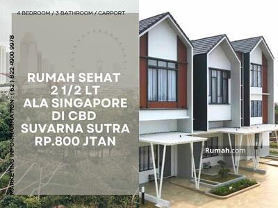 Dijual - Rumah CBD Suvarna Sutera - 2, 5 lantai hanya 800 Jtan - Investasi Pasti untung